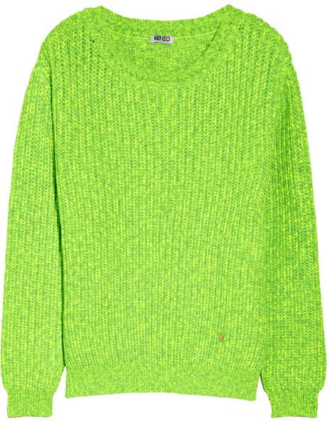 Kenzo Neon chunky-knit sweater