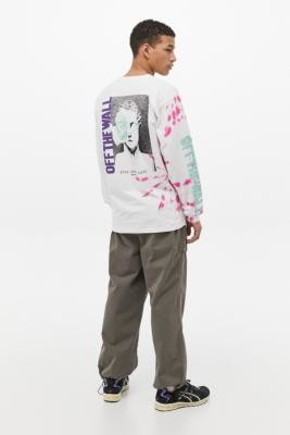 Vans Eyes Open White Tie-Dye Long-Sleeve T-Shirt - White L at Urban Outfitters