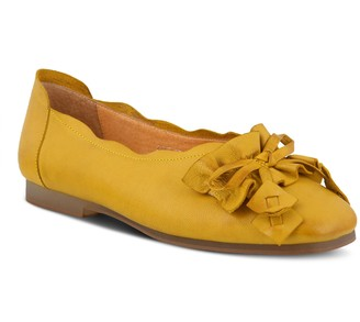 Spring Step L'Artiste Leather Square Toe Slip-Ons with BowDetail - Louisa