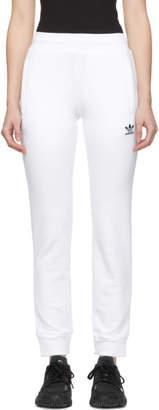 adidas White Trefoil Lounge Pants