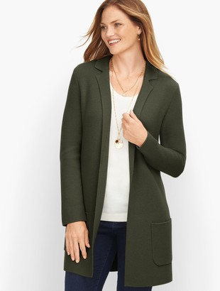 Talbots Milano Stitch Sweater Jacket - Solid