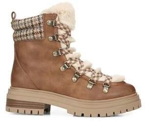 Sam Edelman Giselle Faux Fur Trim Ankle Boots