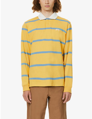 Stussy Stu Hill striped cotton rugby shirt
