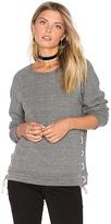 Michael Lauren Bryce Lace Up Sweatshirt in Grey. - size S (also in XS)