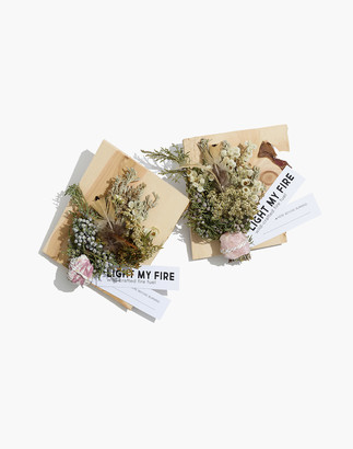 Madewell Con Lo Common Light My Fire Two-Pack Fire Starter Kit in Rose Quartz and Pink Tourmaline