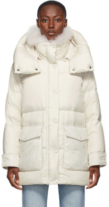Army by Yves Salomon Yves Salomon - Army White Down Puffer Coat