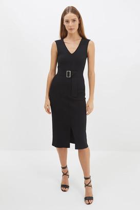 SABA Amara Milano V-Neck Midi Dress