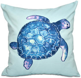 "Sea Turtle, Animal Print Pillow, Aqua, 16""x16"""