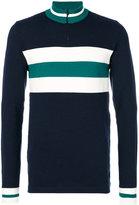 Fendi striped zipped sweater - men - Spandex/Elastane/Wool - 48