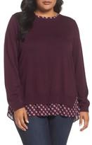 NYDJ Plus Size Women's Layer Look Sweater