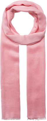 Codello Women's Pink Wool and Modal Scarf 70 x 190 cm