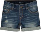 Levi's Girls 7-16 Distressed Denim Boyfriend Shortie Shorts