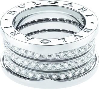 Bvlgari White Gold and Diamond Four-Band B.Zero 1 Ring