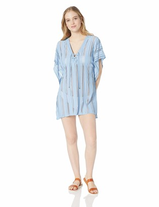 Ella Moss Women's Front Lace Up Swimsuit Cover Up Tunic