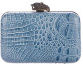 House Of Harlow Embossed Leather Clutch