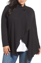 Bobeau Plus Size Women's One-Button Textured Cardigan