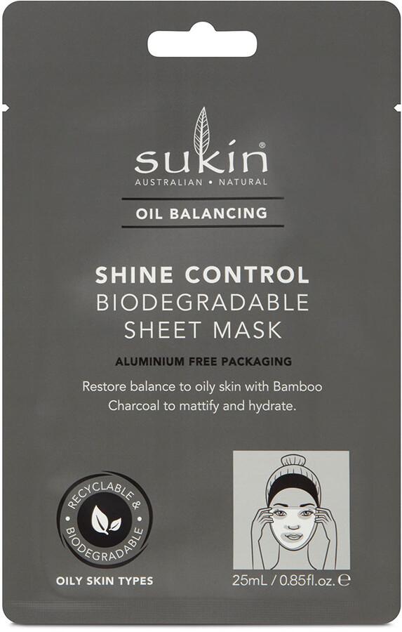 Thumbnail for your product : Sukin Oil Balancing Shine Control Sheet Mask 20Ml