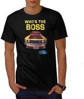 Ford Mustang Boss USA Shelby 307 Men NEW XXXL T-shirt | Wellcoda