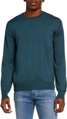 Brioni Men's Solid Merino Wool Crewneck Sweater
