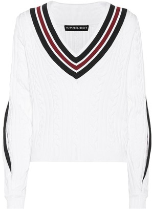 Y/Project Cotton-blend sweater