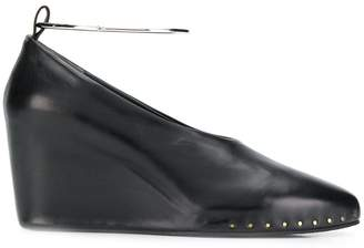 Jil Sander wedge heel pumps
