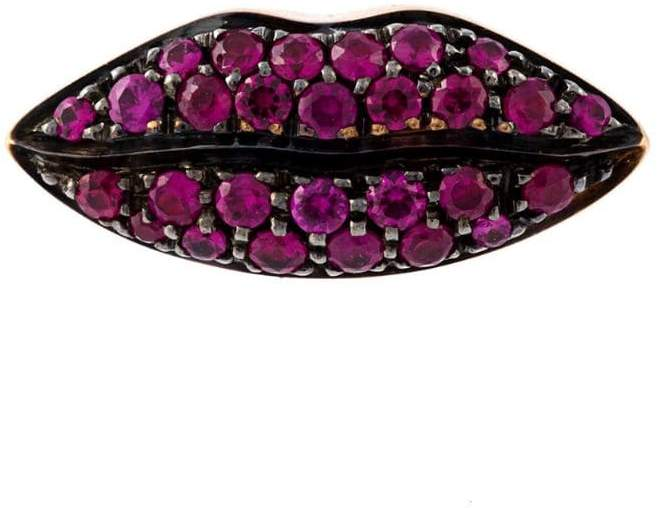 Delfina Delettrez 'Lips' ruby earring