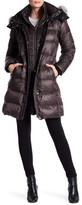 Andrew Marc Skylar Quilted Down Genuine Fox Fur Trim Hood Jacket
