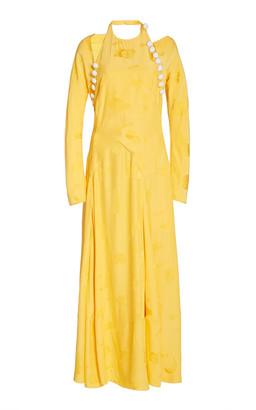 Rosie Assoulin Hold My Bolero Cotton-Blend Maxi Dress