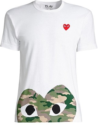 Comme des Garcons Camo Heart Play T-Shirt