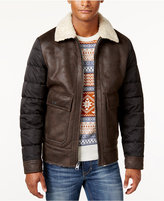 Buffalo David Bitton Men's Big & Tall Faux Leather Bomber Jacket