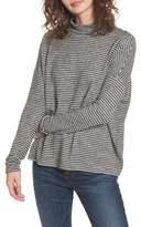 Soprano Stripe Mock Neck Sweater