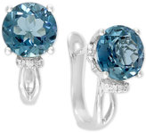Effy Final Call by London Blue Topaz (9-1/4 ct. t.w.) & Diamond Accent Drop Earrings in 14k White Gold