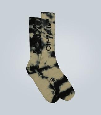 Off-White Tie-dye Arrows mid-length socks