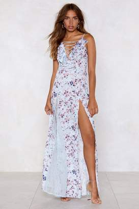 Nasty Gal Womens Nice Stems Floral Dress - Blue - 8, Blue