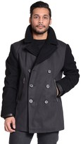 Excelled Men's Excelled Double-Breasted Peacoat