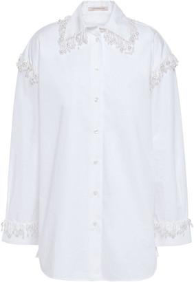 Christopher Kane Embellished Cotton-poplin Shirt