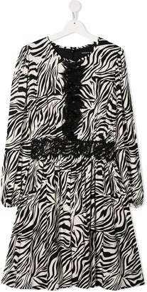 MonnaLisa TEEN zebra print shift dress