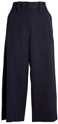 J.W.Anderson Virgin Wool Cropped Wide-Leg Trousers