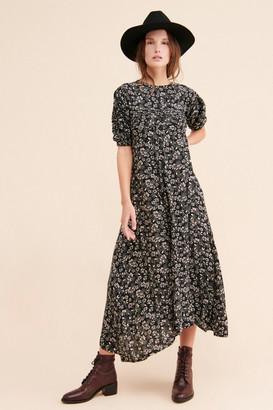 Free People Jessie Floral Print Midi Dress