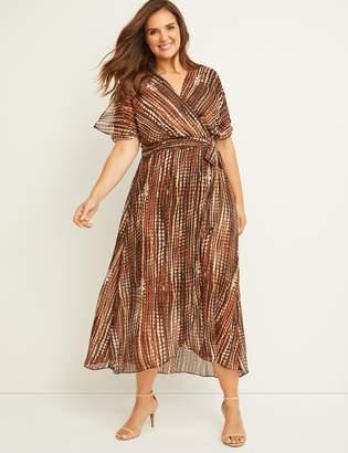 Lane Bryant Printed Faux Wrap Maxi Dress