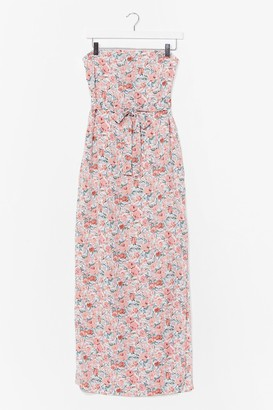 Nasty Gal Womens I Bring You Flowers Bandeau Maxi Dress - White