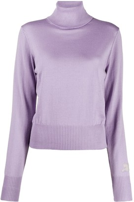 Courreges Sleeve-Logo Roll Neck Sweater