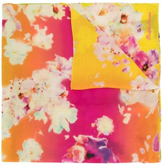 Ralph Lauren Collection Floral-Print Ombre Scarf
