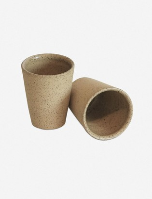 Lulu & Georgia Shivan Flared Tumbler, Raw Tan Clay