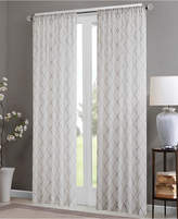 "Madison Park Irina 50"" x 95"" Embroidered Diamond Sheer Window Panel"