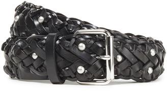 IRO Studded Braided Leather Belt