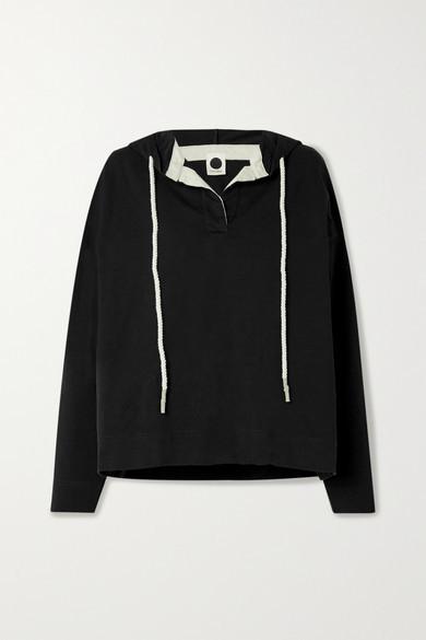 Bassike Net Sustain Organic Cotton-jersey Hoodie - Black
