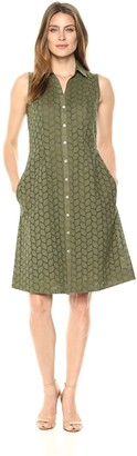 Foxcroft Women's Sleeveless Eyelet Dress
