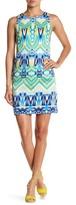 Maggy London Aztec Medley Print Shift Dress