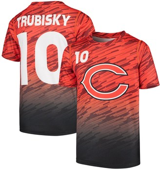 Outerstuff Youth Mitchell Trubisky Orange Chicago Bears Propulsion Sublimated Name & Number T-Shirt